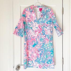 LILLY PULITZER dress size 6 blue pink cotton